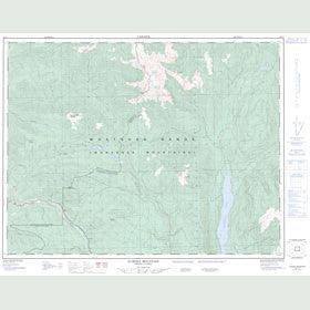 Canadian Topo Map - Eureka Mountain - Map 082L01