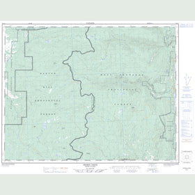 Canadian Topo Map - Shorts Creek - Map 082L04