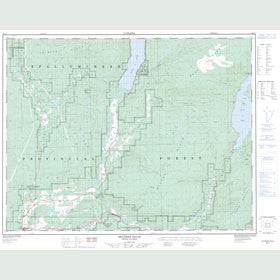 Canadian Topo Map - Shuswap Falls - Map 082L07
