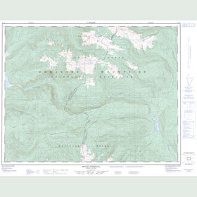 Canadian Topo Map - Mount Fosthall - Map 082L08