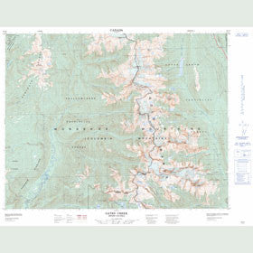 Canadian Topo Map - Gates Creek - Map 082L09