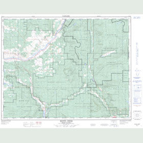 Canadian Topo Map - Monte Creek - Map 082L12