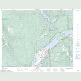 Canadian Topo Map - Chase - Map 082L13