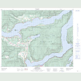 Canadian Topo Map - Sorrento - Map 082L14