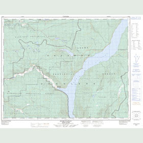 Canadian Topo Map - Adams Plateau - Map 082M04