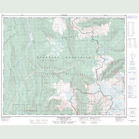 Canadian Topo Map - Ratchford Creek - Map 082M07