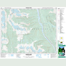 Canadian Topo Map - Hoskins Creek - Map 082M10