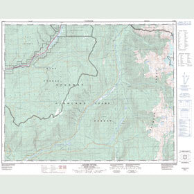 Canadian Topo Map - Adams River - Map 082M11
