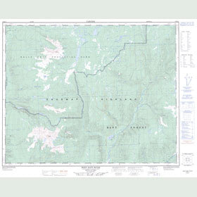 Canadian Topo Map - West Raft River - Map 082M13