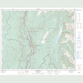 Canadian Topo Map - Messiter - Map 082M14