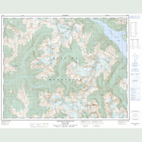 Canadian Topo Map - Argonaut Mountain - Map 082M16