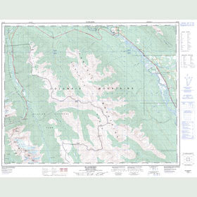 Canadian Topo Map - Blaeberry - Map 082N06