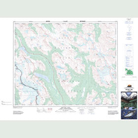 Canadian Topo Map - Hector Lake - Map 082N09