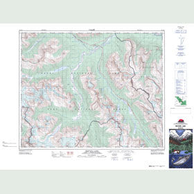 Canadian Topo Map - Mistaya Lake - Map 082N15