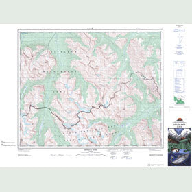 Canadian Topo Map - Siffleur River - Map 082N16