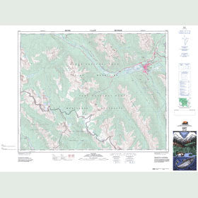 Canadian Topo Map - Banff - Map 082O04