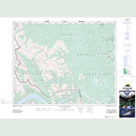 Canadian Topo Map - Lake Minnewanka - Map 082O06