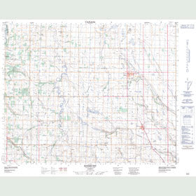 Canadian Topo Map - Didsbury - Map 082O09