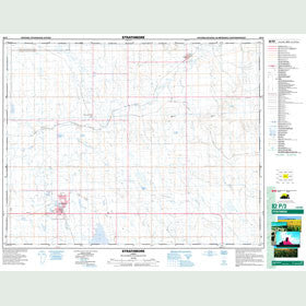 Canadian Topo Map - Strathmore - Map 082P03