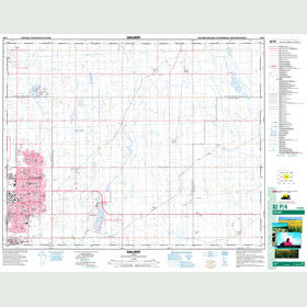 Canadian Topo Map - Dalroy - Map 082P04