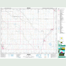 Canadian Topo Map - Irricana - Map 082P05