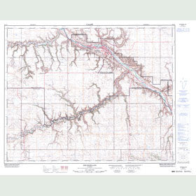 Canadian Topo Map - Drumheller - Map 082P07