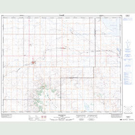 Canadian Topo Map - Craigmyle - Map 082P09