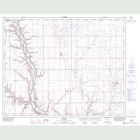 Canadian Topo Map - Munson - Map 082P10