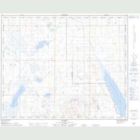 Canadian Topo Map - Hackett - Map 083A01