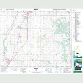 Canadian Topo Map - Innisfail - Map 083A04