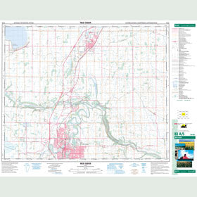 Canadian Topo Map - Red Deer - Map 083A05
