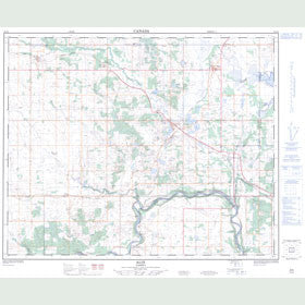 Canadian Topo Map - Alix - Map 083A06