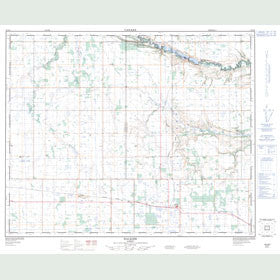Canadian Topo Map - Halkirk - Map 083A08