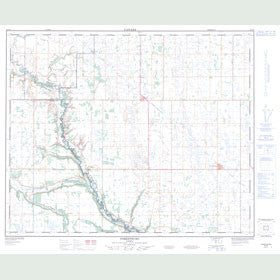 Canadian Topo Map - Forestburg - Map 083A09