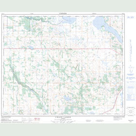 Canadian Topo Map - Chain Lakes - Map 083A11