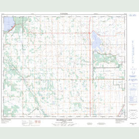 Canadian Topo Map - Bearhills Lake - Map 083A13