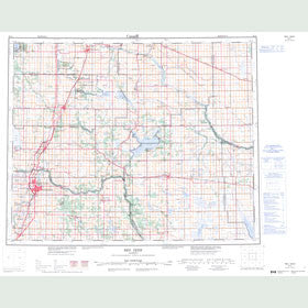 Canadian Topo Map - Red Deer - Map 083A