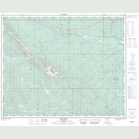 Canadian Topo Map - Saunders - Map 083B05