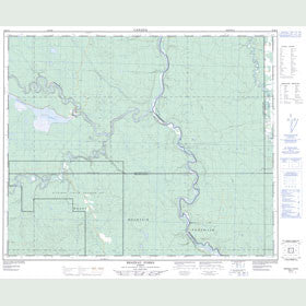 Canadian Topo Map - Brazeau Forks - Map 083B14
