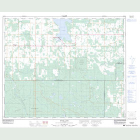 Canadian Topo Map - Buck Lake - Map 083B15