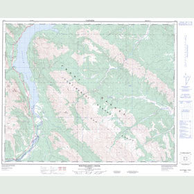 Canadian Topo Map - Whiterabbit Creek - Map 083C01