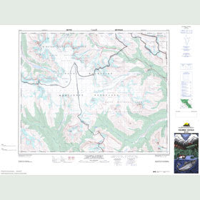 Canadian Topo Map - Columbia Icefield - Map 083C03