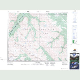 Canadian Topo Map - Job Creek - Map 083C07