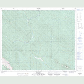 Canadian Topo Map - Wapiabi Creek - Map 083C09