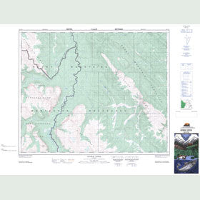 Canadian Topo Map - George Creek - Map 083C10