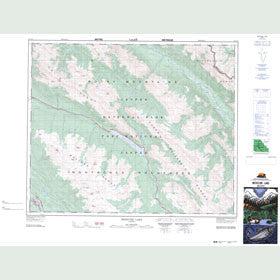 Canadian Topo Map - Medicine Lake - Map 083C13