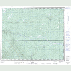 Canadian Topo Map - Blackstone River - Map 083C16