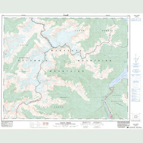 Canadian Topo Map - Nagle Creek - Map 083D02