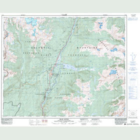 Canadian Topo Map - Blue River - Map 083D03