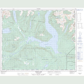 Canadian Topo Map - Murtle Lake - Map 083D04